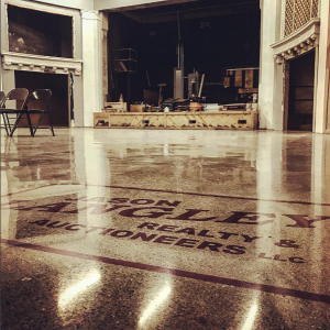 CCS Fayette Theatre Ohio Stage Polished Concrete